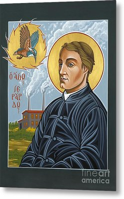 Fr. Gerard Manley Hopkins The Poet's Poet 144 Metal Print
