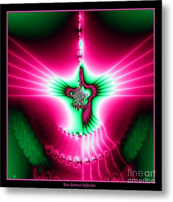 Fractal 11 Holy Spirit Metal Print by Rose Santuci-Sofranko