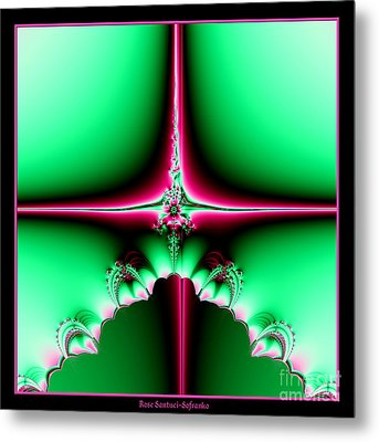 Fractal 14 Star Of Bethlehem  Metal Print by Rose Santuci-Sofranko