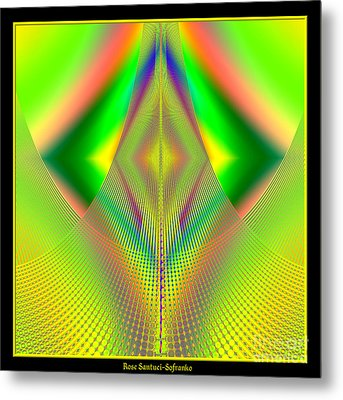 Fractal 32 Up Up And Away Metal Print by Rose Santuci-Sofranko