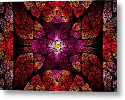 Fractal - Aztec - The All Seeing Eye Metal Print by Mike Savad