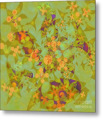 Metal Print featuring the digital art Fractal Blossom 2 by Ursula Freer