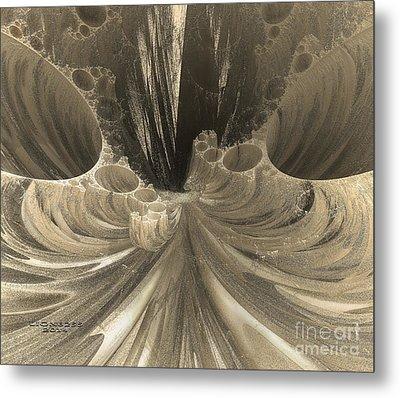 Fractal Crater Metal Print