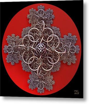 Fractal Cruciform Metal Print