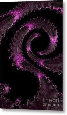 Fractal Curls Metal Print by Ann Garrett