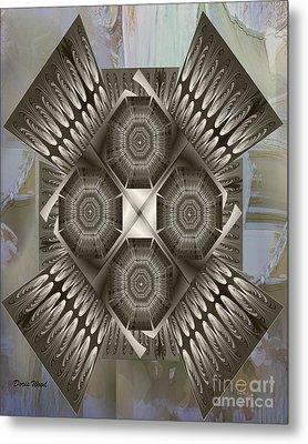 Fractal Design Number Nine Metal Print by Doris Wood