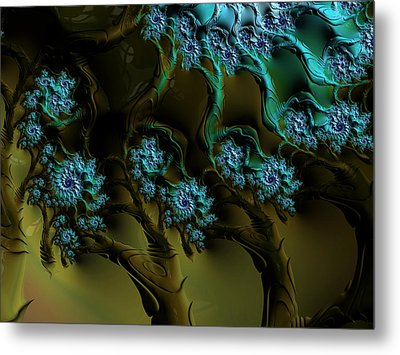 Fractal Forest Metal Print by GJ Blackman