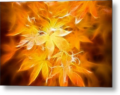 Fractal Gold 6664 Metal Print by Timothy Bischoff