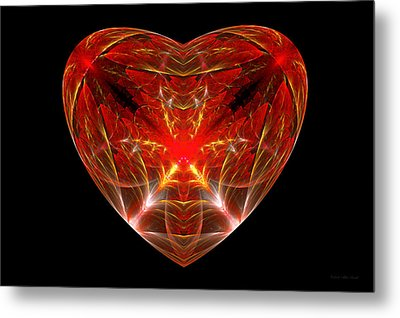 Fractal - Heart - Open Heart Metal Print by Mike Savad
