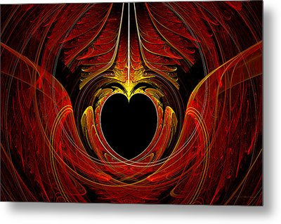 Fractal - Heart - Victorian Love Metal Print by Mike Savad