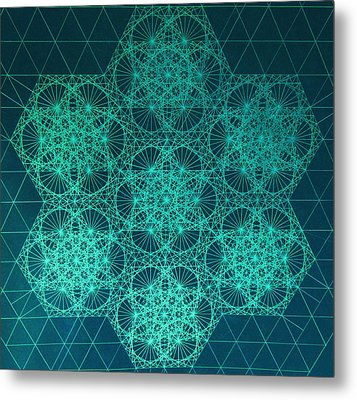 Metal Print featuring the drawing Fractal Interference by Jason Padgett