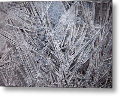 Frozen Fractal Metal Print