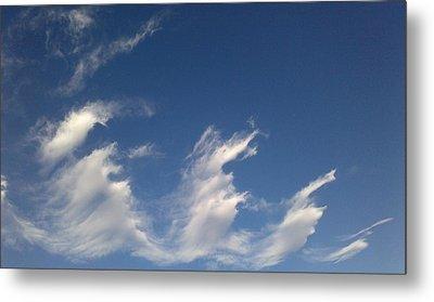 Metal Print featuring the digital art Fractal-like Clouds by Lea Wiggins