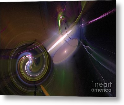 Metal Print featuring the digital art Fractal Multi Color by Henrik Lehnerer