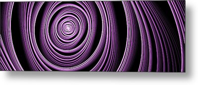 Fractal Purple Swirl Metal Print