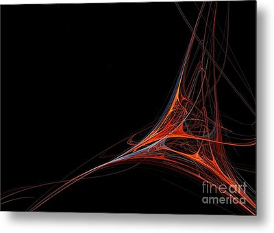 Metal Print featuring the photograph Fractal Red by Henrik Lehnerer