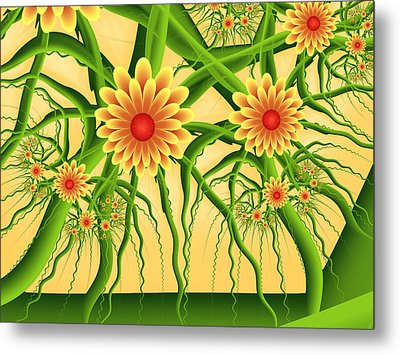 Fractal Summer Pleasures Metal Print