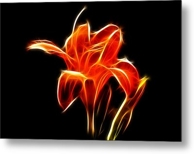 Fractaled Lily Metal Print by Bill Barber