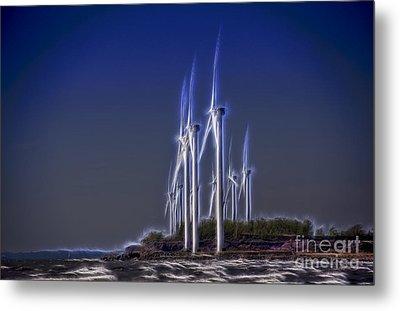 Fractalius Windmills Metal Print by Jim Lepard