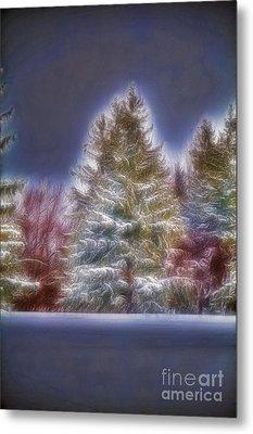 Fractalius Winter Pines Metal Print