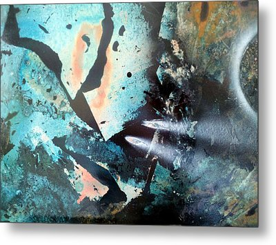Fractured Planet Metal Print