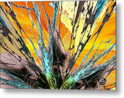 Fractured Sunset Metal Print by Seth Weaver
