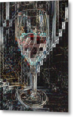 Fractured Surprise Metal Print by Marie Neder