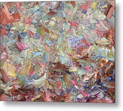 Fragmented Hill Metal Print by James W Johnson