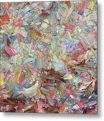 Fragmented Hill - Square Metal Print by James W Johnson