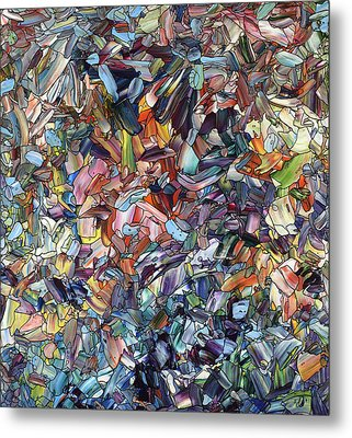 Fragmenting Heart Metal Print by James W Johnson