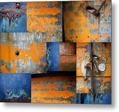 Fragments Antique Metal Metal Print by Ann Powell