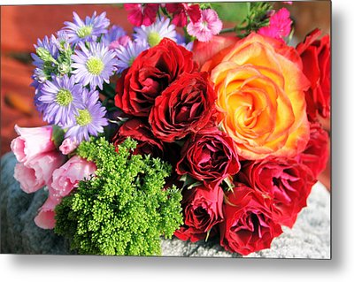 Fragrant Bouquet Metal Print by Paulette Maffucci