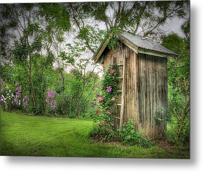 Fragrant Outhouse Metal Print by Lori Deiter