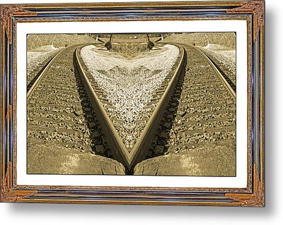 Framed Heart Metal Print