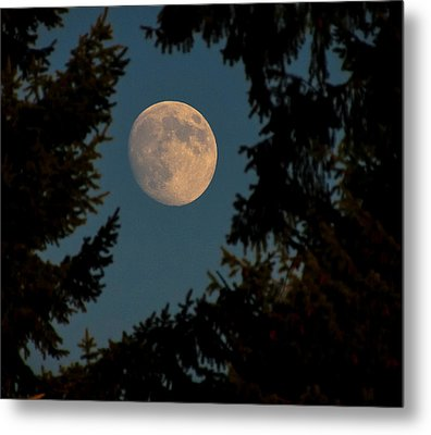 Framed Moon Metal Print