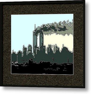 Framed Outline Metal Print by Kosior
