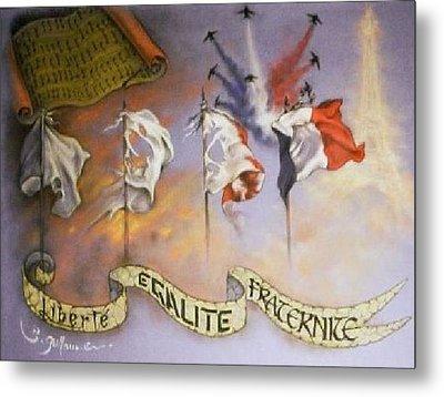 France Belle Et Rebelle Un Metal Print by Guillaume Bruno