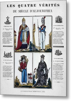 France Four Truths, C1825 Metal Print by Granger