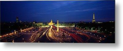 France, Paris, Place De La Concorde Metal Print by Panoramic Images