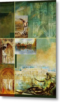 France Unesco World Heritage Poster Metal Print by Catf