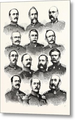Franco-prussian War German Commanders Alvensleben Metal Print