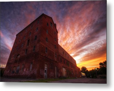 Frank Jones Brewery Sunset Metal Print by Eric Gendron