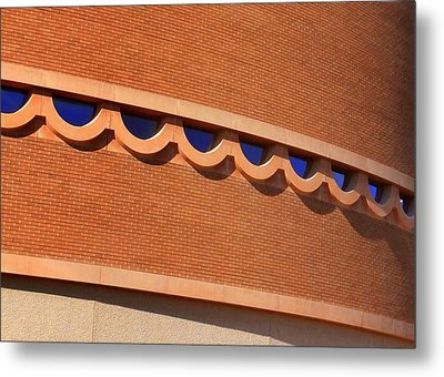 Frank Lloyd Wright Designed Auditorium Window Detail Metal Print by Karyn Robinson