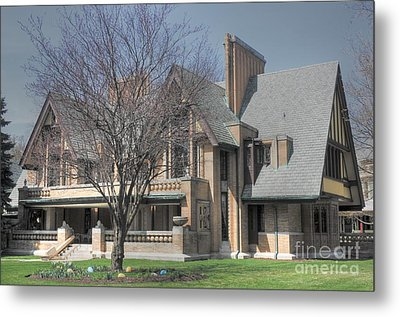 Frank Lloyd Wright First Commission Metal Print by David Bearden