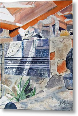 Metal Print featuring the painting Frank Lloyd Wright Taliesin West 2 by Carol Flagg
