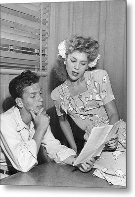 Frank Sinatra & Eileen Barton Metal Print by Underwood Archives