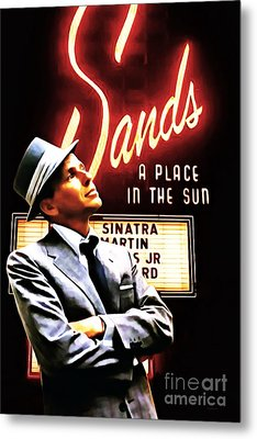 Frank Sinatra I Did It My Way 20150126brun V2 Metal Print