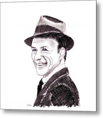 Frank Sinatra Metal Print by Martin Howard