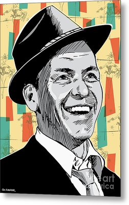 Frank Sinatra Pop Art Metal Print by Jim Zahniser