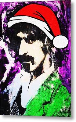 Frank Zappa Christmas Metal Print by Doug Robinson